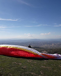 Deltaplano e il parapendio a Monte Buceto, Stribugliano
