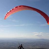 Deltaplano e il parapendio a Monte Buceto, Stribugliano. The takeoff.