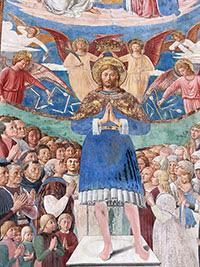 Benozzo Gozzoli, San Sebastiano (particolare), 1464, chiesa di Sant'Agostino, San Gimignano