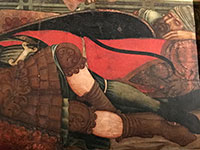 Niccolò di Segna,dettaglio  del polittico della Resurrezione, 1348 circa, Duomo di Sansepolcro