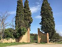 Villa Poggio Manzuoli, former entrancde gate